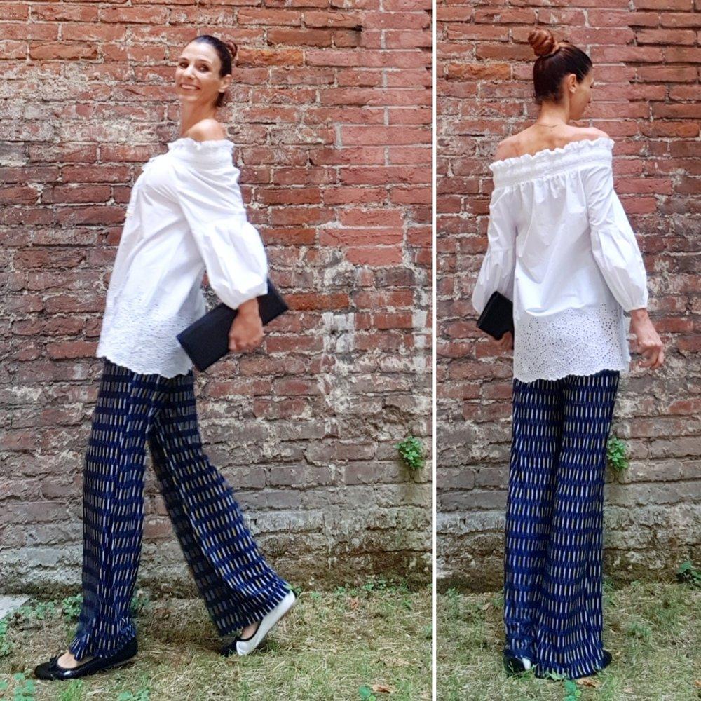 camicia: Flavio Castellani - pantaloni: gazel -ballerine: Mirtilla - pochette: vintage di mia nonna