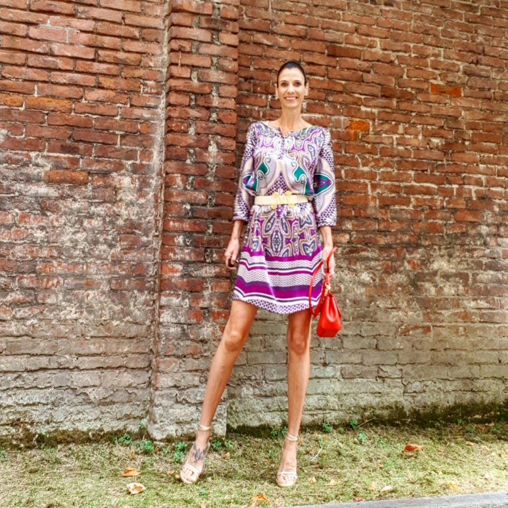 abito: Zendra El Corte Ingles -sandali: Steward Weitzman - cintura: Moschino vintage - borsa: Dolce &Gabbana